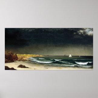 Póster Playa inminente de la tormenta de Martin Johnson
