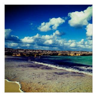 Póster Playa rocosa exótica