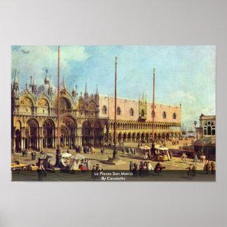 Póster Plaza San Marco del La. Por Canaletto