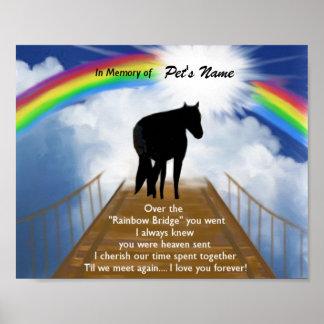 Póster Poema conmemorativo del puente del arco iris para