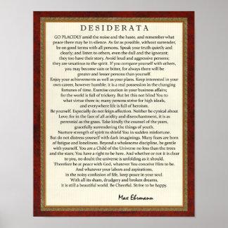 Póster Poema de los desiderátums del estilo tradicional