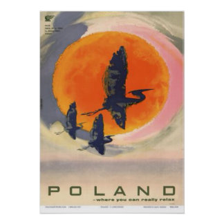 Póster Polonia: Donde usted puede relajarse realmente,