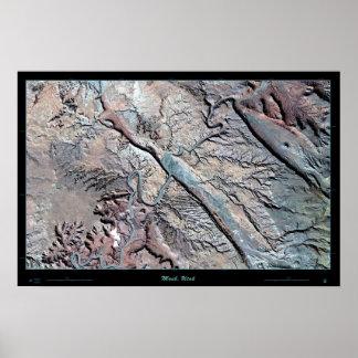 Poster por satélite (clásico) de Moab, Utah