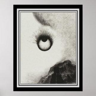 """Póster """"Por todas partes los globos del ojo son"""" 16x20 en"""