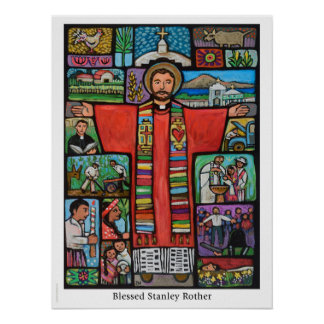 Póster Poste bendecido de Stanley Rother, primer mártir