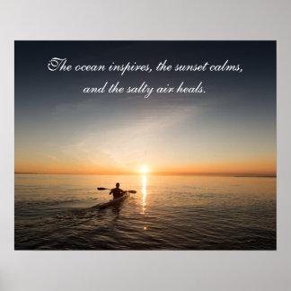 Póster Poste inspirado de la cita de la canoa del kajak