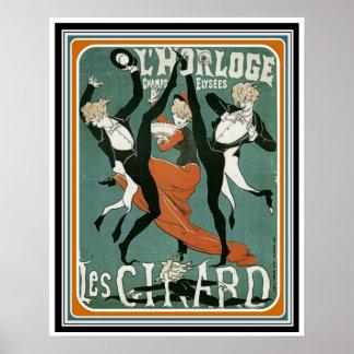 Póster Poster 16 x 20 del art déco del vintage de Les