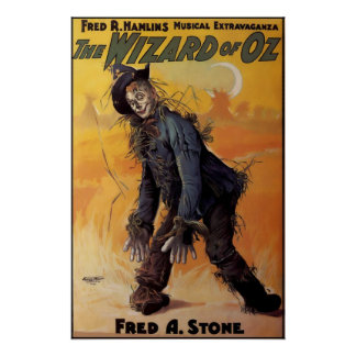 Póster Poster 1903 de la demostración de mago de Oz