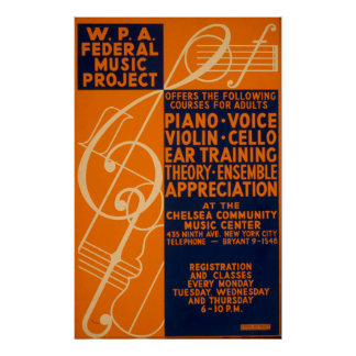 Póster Poster 1939 de WPA del vintage de las clases del