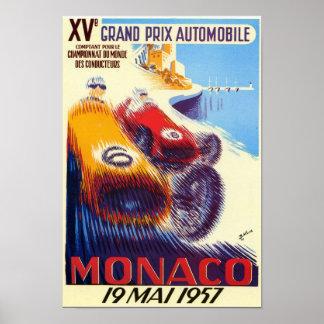 Póster Poster 1957 de Mónaco Grand Prix