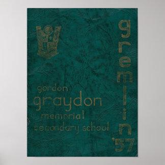 Póster Poster 1957 del anuario de Gremlin