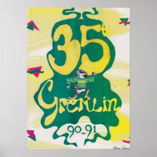 Póster Poster 1991 del anuario de Graydon Gremlin