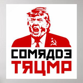 """Póster Poster 2017 de la protesta del triunfo: """"CAMARADA"""