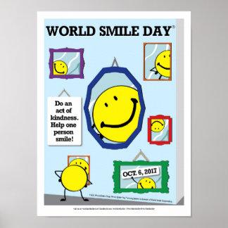 Póster Poster 2017 del día de la sonrisa del mundo
