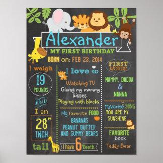 Póster Poster 3 de la muestra del cumpleaños del fiesta