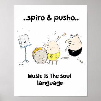 Póster Poster 8x10 de las citas de la música de Spiro y
