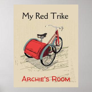 Póster Poster adaptable de Childs 'mi Trike rojo
