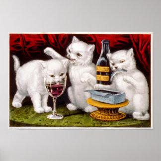 Póster Poster alegre de tres gatitos
