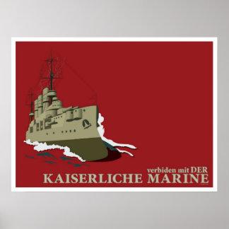 Póster Poster alemán de la propaganda de la Primera Guerr