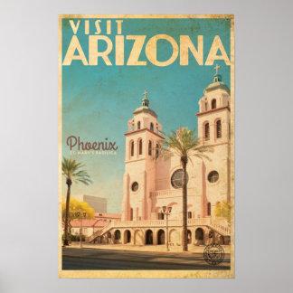 Póster Poster americano del viaje del vintage - Arizona