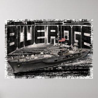 Póster Poster azul de Ridge de la nave del comando
