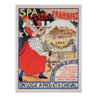 """Póster Poster """"BALNEARIO Ferme de la Frahinfaz """" del"""