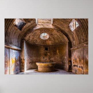 Póster Poster - baños romanos - Pompeya antiguo, Italia