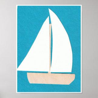 Póster Poster blanco del velero