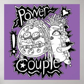 Póster Poster blanco y negro de los pares del poder