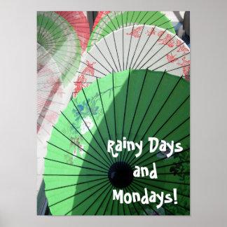 Póster Poster bonito de los parasoles