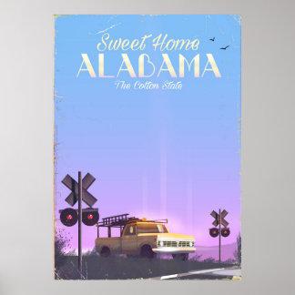 """Póster Poster """"casero"""" dulce del viaje de Alabama"""