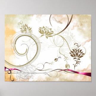 Póster poster colorido de la flor