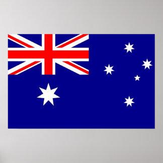 Póster Poster con la bandera de Australia