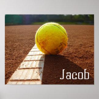 Póster Poster conocido de encargo de la foto del tenis