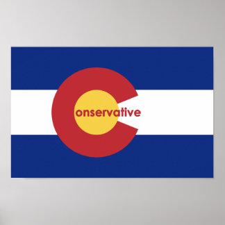 Póster Poster conservador de la bandera de Colorado