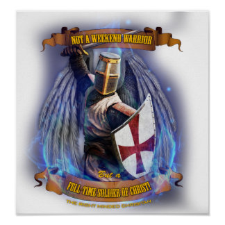 Póster Poster cristiano del soldado del caballero