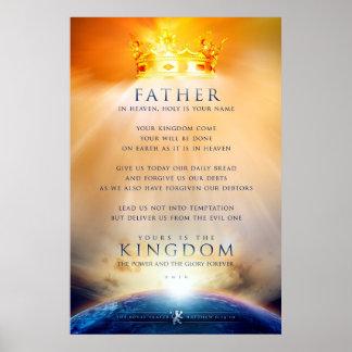 Póster Poster cristiano - el rezo del Jesucristo