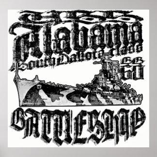 Póster Poster de Alabama del acorazado