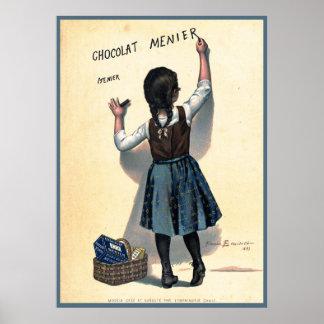 Póster Poster de Chocolat del francés del vintage