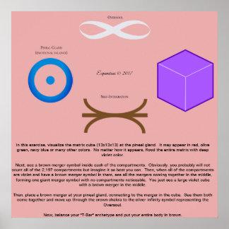 Póster Poster de combinación cubicado 13 del ejercicio