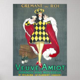 Póster Poster de Cremant du Roi Vintage Champán