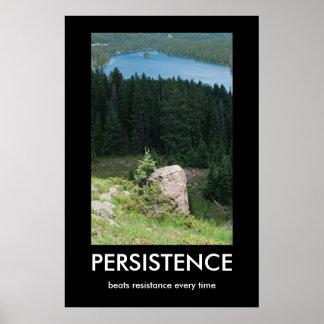 Póster Poster de Demotivational de la persistencia