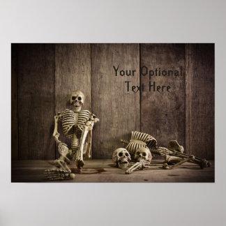 Póster Poster de encargo del texto de los esqueletos