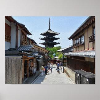 Póster Poster de Kyoto Gion Japón