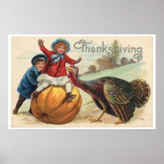 Póster Poster de la acción de gracias
