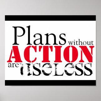 Póster Poster de la acción del plan