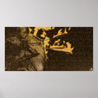 """Póster Poster de la """"armadura"""" (mosaico de todo el"""