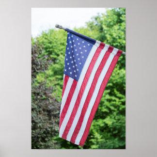 Póster Poster de la bandera americana