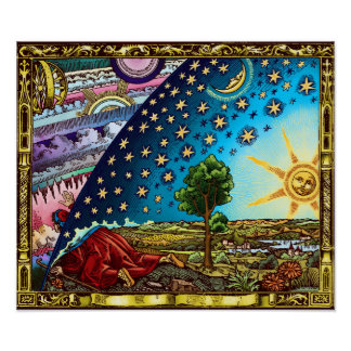Póster Poster de la bóveda de Flammarion