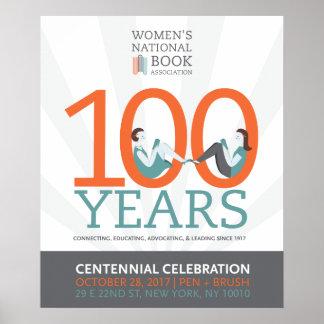 Póster poster de la celebración del centenario de 20x24